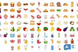 Videohive 100 Food & Drinks Icons 28181411