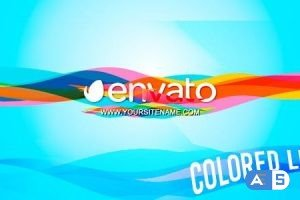Videohive Colored Lines – Logo 12424249