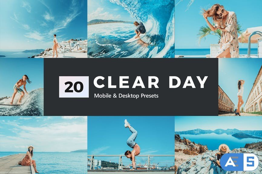 20 Clear Day Lightroom Presets and LUTs