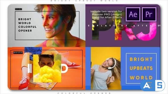 Videohive Bright Upbeat World Colorful Opener 27933971