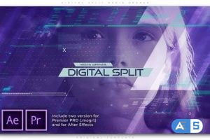 Videohive Digital Split Media Opener 27933932