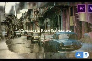 Videohive Cinematic Rain Slideshow 26301491