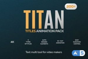 Videohive 200 Animated Titles Pack for Premiere Pro MOGRT 28114109
