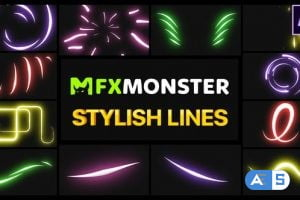 Videohive Stylish Lines | After Effects 27989816