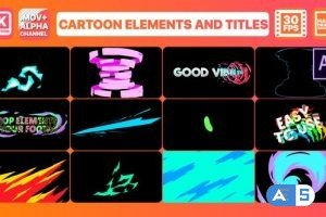 Videohive Cartoon Dynamic Shapes | After Effects 28207746
