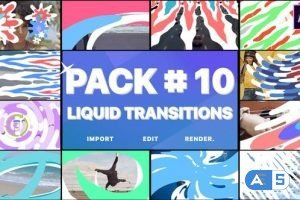 Videohive Liquid Transitions Pack 10 | After Effects 28302089