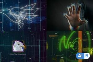 Videohive Scan Fingerprint Biometrics Logo Reveal 27184261