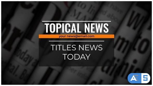 Videohive Titles News 27819083