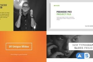 Videohive Typography Slides – for Premiere Pro   Essential Graphics 22500965