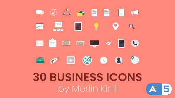 Videohive 30 Animated Business icons 28114898