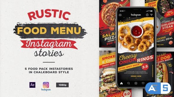 Videohive Rustic Food Menu Instagram Stories 27915956