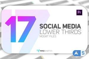 Videohive Elegant Social Media Lower Third 28040355