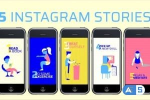 Videohive 5 Instagram stories for staying home in lockdown 26592158