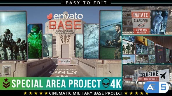 Videohive Cinematic Military Base Titles 27764074