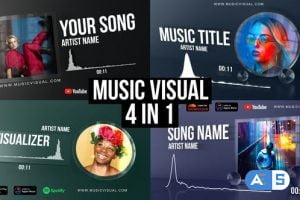 Videohive Glass Audio React Music Visualizer 27903768