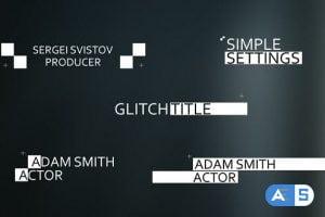 Videohive 15 Glitch Titles 19900967