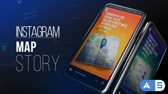 Videohive Instagram Map Story 27504103