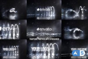 Videohive Glowing Particals Logo Reveal 37 : Silver Particals 02 27088823