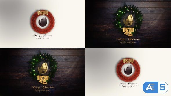 Videohive Merry Christmas Intro (Two versions) 21141401