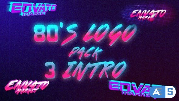 Videohive 80's Logo Intro Pack 3 in 1 19497990