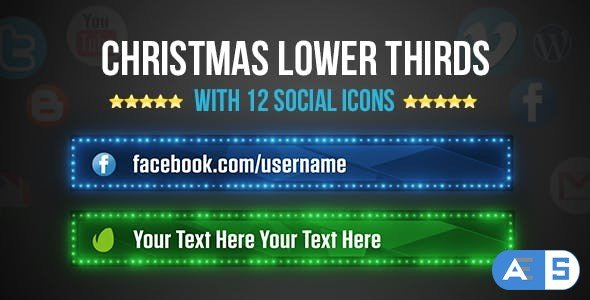 Videohive Christmas Lower Thirds 13933650