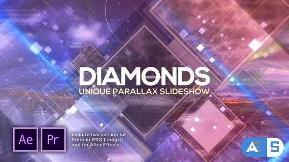 Videohive Diamonds Unique Parallax Slideshow 28520468
