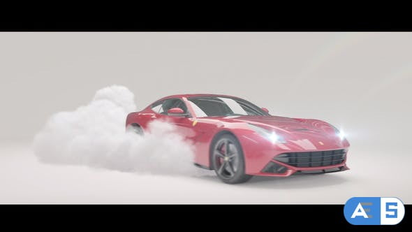 Videohive Drifting Car Logo Reveal 27851416