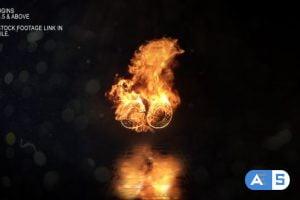Videohive Realistic Fire Logo 3 25116321