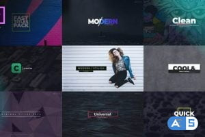 Videohive Fast Titles I Essential Graphics 22375253