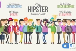 Videohive Hipster Explainer Toolkit Essential Graphics   Mogrt 23253417