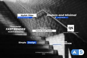 Videohive Stylish and Minimal Titles Pack For After Effects 28448310