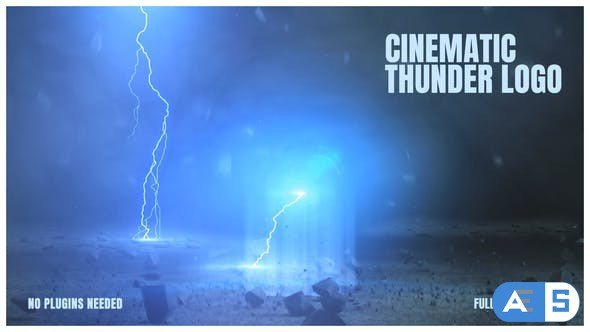 Videohive Cinematic Thunder Logo 25379668
