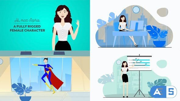 Videohive Corporate Female Character Toolkit Vol.1 28452131