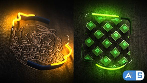 Videohive Neon Wood Logo Reveal 25295736