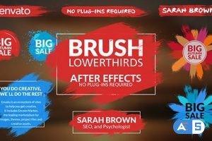 Videohive Brush Lower Thirds 17843408