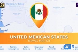 Videohive Mexico Map – United Mexican States Travel Map 28581932