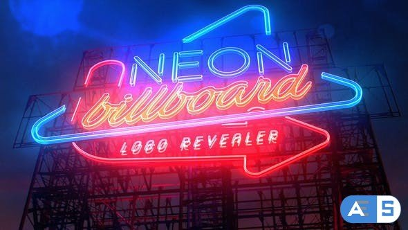 Videohive Neon Billboard Logo Revealer 21763750