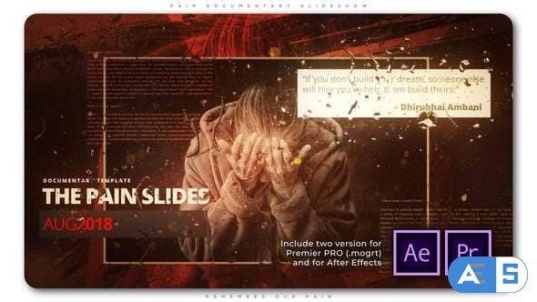 Videohive Pain Documentary Slideshow 28425044
