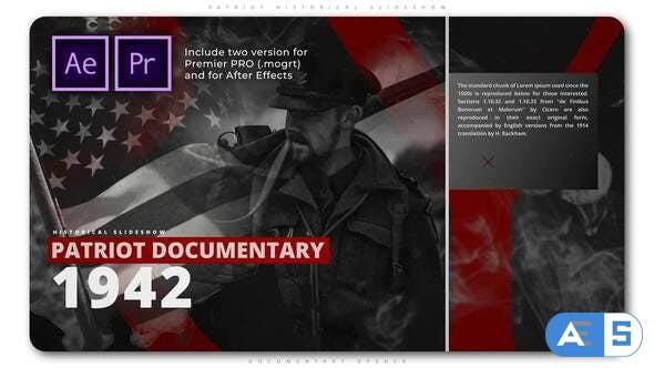 Videohive Patriot Historical Slideshow 28424755