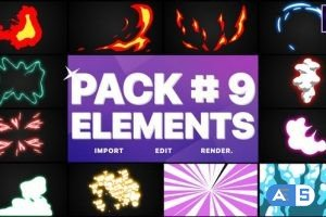 Videohive Flash FX Elements Pack 09 | After Effects 28410665
