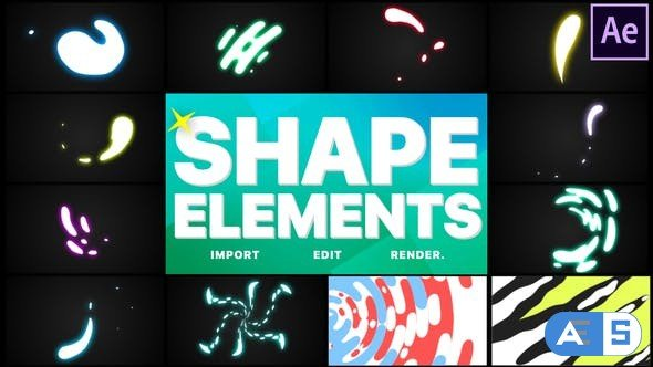 Videohive Shapes Elements Pack | After Effects 28468009