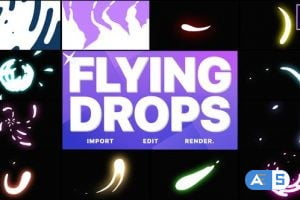Videohive Flying Drops | After Effects 28538139
