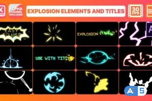 Videohive Explosion Elements And Titles   After Effects 28711751