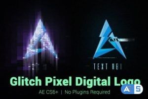 Videohive Glitch Pixel Digital Logo 21987563