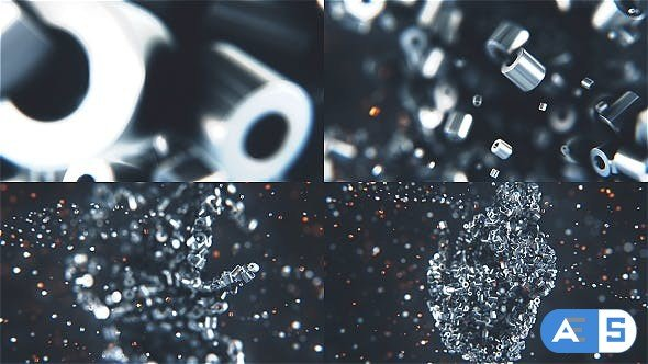 Videohive Metalic Particles Logo 19140068