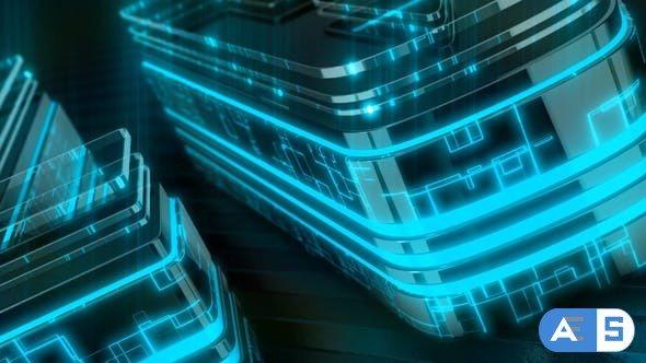 Videohive Neon Technology Logo 28556308