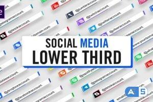 Videohive Social Media Lower Third Parallelogram 28401112