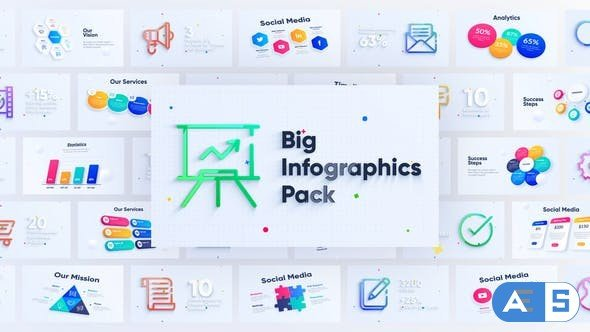Videohive Corporate Infographics Charts Pack 28328007