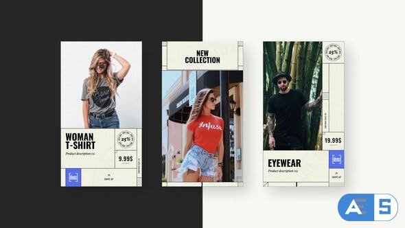 Videohive Vintage Denim Fashion Stories 28587657
