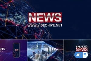Videohive Broadcast Design-News Package 25223884